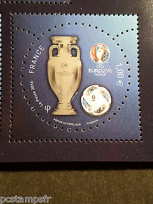 FRANCE timbre SPORT, FOOTBALL, COUPE EURO 2016 UEFA, neuf**, MNH STAMP