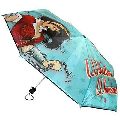 Wonder Woman - DC Bombshell Compact Umbrella - New & Official DC Comics With Tag