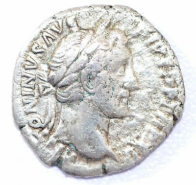 AUTHENTIC EMPEROR ANTONINUS PIUS, COIN Silver Denarius -rev. COS IIII - A921