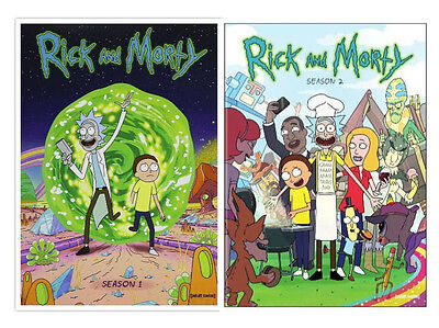 Rick and Morty TV Series Complete Season (1-2) 1 & 2 ~ BRAND NEW DVD SET