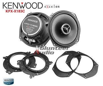 "Kenwood Excelon KFC-X183C 7"" 2 Way Coaxial Speaker 280W Custom Fit Adapter"