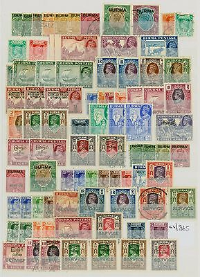 Burma KGVI Stamp Collection Fine Mint & Used CV STC £865 Excellent Value