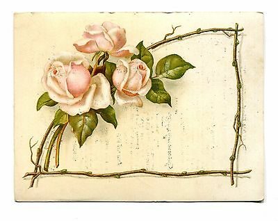 Victorian Trade Card FLEISCHMANN & CO COMPRESSED YEAST pink roses