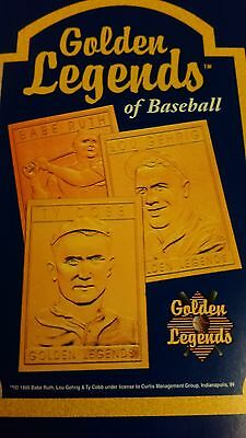 Mlb Golden Legends Of Baseball Card Ty Cobb (Cert. Of Auth) New In Box New Nip