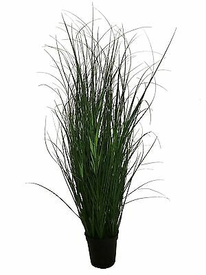 Best Artificial 4ft / 120cm Onion Grass Green Reed PVC Garden Indoor Plant