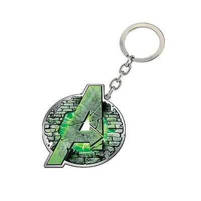 Genuine Marvel Avengers Logo Age Of Ultron 'Hulk' Metal Keyring Ideal Gift