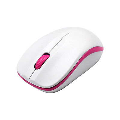 Compoint 3 Button Wireless 2.4Ghz Optical Mouse with Nano Adapter  MW161 Pink
