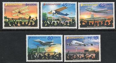 SINGAPORE MNH 2011 SG1980-84 100th Anniversary of Aviation in Singapore