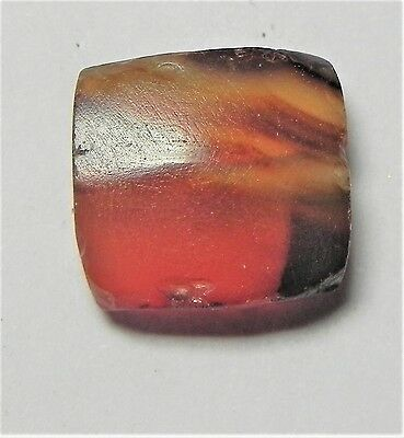 Zurqieh -Af1732- Ancient Egypt , New Kingdom Carnelian Bead. 1400 B.c