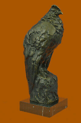 Abstract Modern Art Falcon Bald Eagle Bronze Sculpture by Miguel Lopez Statue