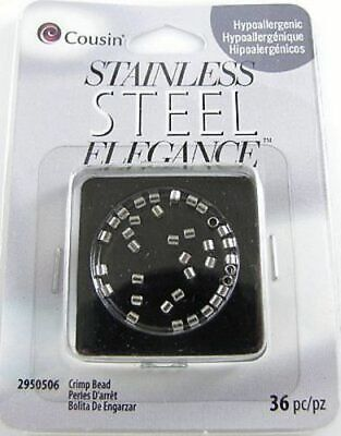 Stainless Steel Elegance Crimp Beads 2mm (36 pieces)