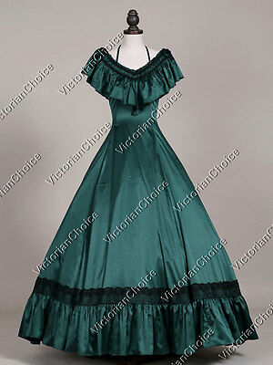 Victorian Old West Saloon Vampire Masquerade Gown Theater Halloween Costume 127