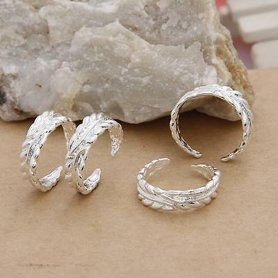 Wholesale 5PCS Silver Toe Rings NF Adjustable