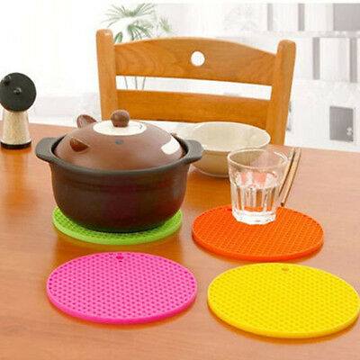 Heat Resistant Mat Silicone Non-slip Coaster Cup Cushion Kitchen Accessories