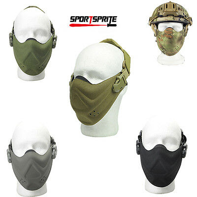 Airsoft Tactical Military CS Game Cycling Half Face Protector Mouth Mask Cover