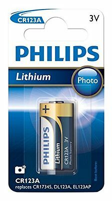 LOT DE 5 Philips CR123A Extreme Life Photo Pile Lithium 3V