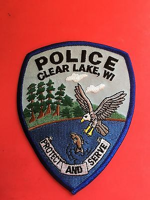 Clear Lake Wisconsin  Police  Shoulder  Patch