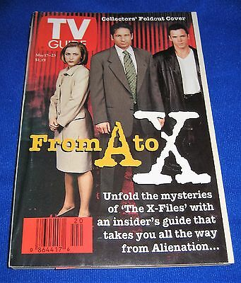 1997 X-Files TV Guide From A to X-Collector's Foldout-Mulder Scully Skinner
