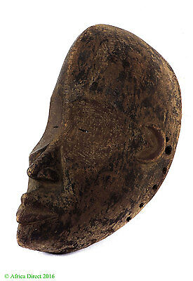 Ngbaka Mask Notched Nose Red Pigment Congo African Art