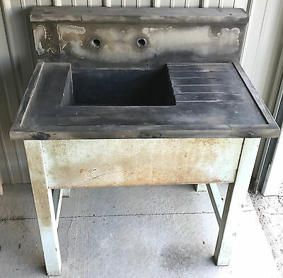 Great Vintage Soapstone Sink-Antique-Industrial