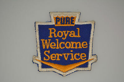 Vintage Original Pure Oil Gas Royal Welcome Service Patch Crew Jacket Attendant