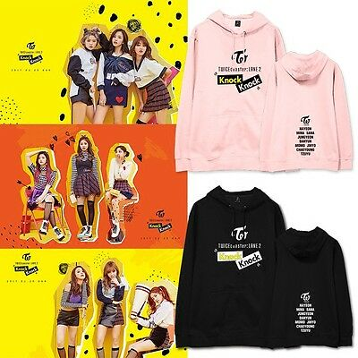 KPOP TWICE KNOCK Cap Hoodie Sweater Unisex DAWON Sweatershirt Da Hyun Coat