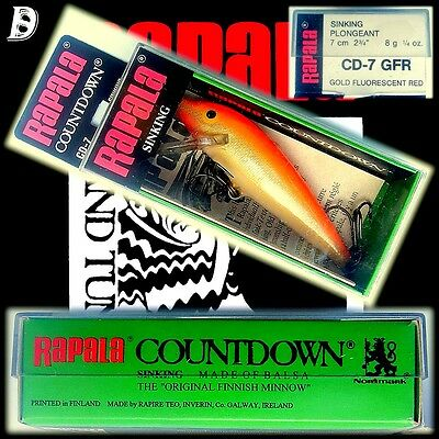 Vintage Rapala Countdown 7cm GFR alte Produktion aus Irland, New in Box