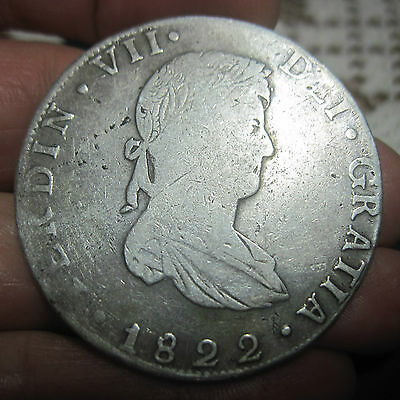 1822 JM (MEXICO) 8 REALES (SILVER) GUANAJUATO --WAR of INDEPENDENCE----- RARE---