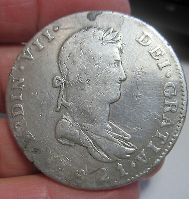1821 FS ( MEXICO) 8 REALES (SILVER) GUADALAJARA  --- WAR of INDEPENDENCE-----
