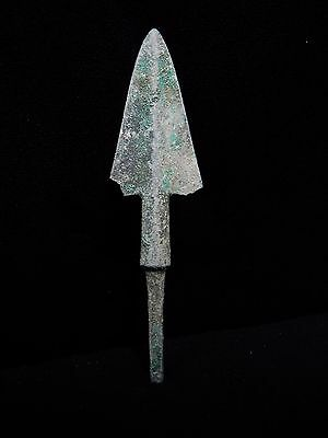 Zurqieh - Al95- Over 3000 Years Old Bronze Long Arrow Head - 1200 B.c
