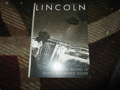 2005 lincoln navigator quick reference guide owners manual rh picclick com 2002 lincoln ls owners manual on amazon 2002 lincoln ls v8 owners manual