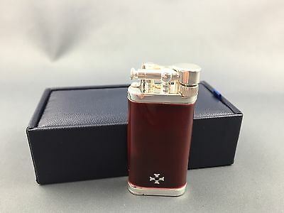 Sillem's IM Corona Sterling Silber Emaille Dark Red Old Boy Pfeife pipe lighter