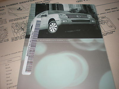 2008 mercury mountaineer factory quick reference owners manual rh picclick com 2010 Mercury Mountaineer 2006 mercury mountaineer manual
