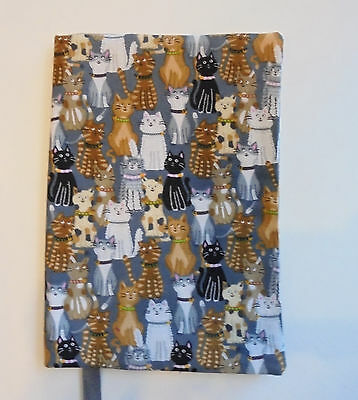 FABRIC Paperback Book Cover for Standard Paperback Book CATS Lots of Cats Kitty