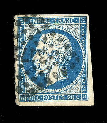 FRANCE - N°14A 20c EMPIRE ND OBL pc3472 VALENCIENNES (07g)