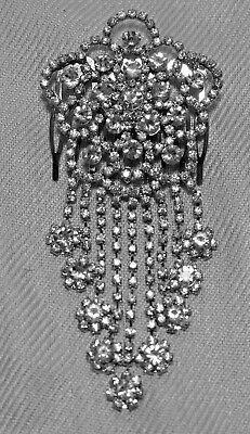 Elegant Jeweled Hair Comb For Bridal Or Prom, Usa Seller,#2, Gorgeous,rhinestone