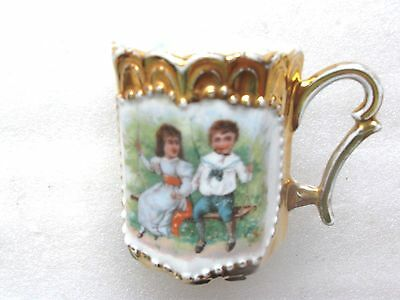 Victorian H/painted Demitasse Child's Cup Rare