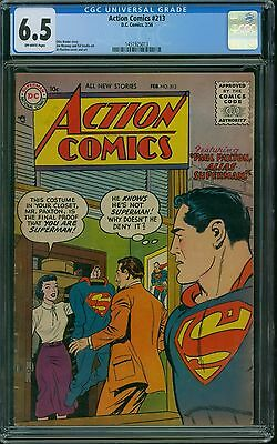Action Comics 213 CGC 6.5 - OW Pages