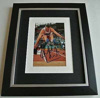 Jonathan Edwards SIGNED 10x8 FRAMED Photo Autograph Display Olympic AFTAL & COA