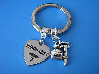 Pharmacist Keyring Pharmacy Pharmacology Syringe Medicine Charms