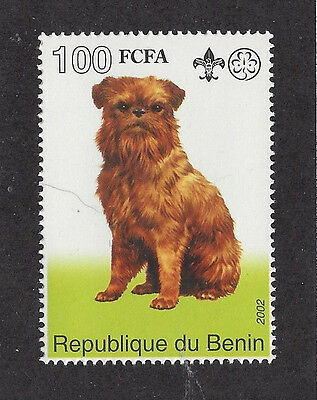 Dog Art Full Body Postage Stamp BRUSSELS GRIFFON BRUXELLOIS Benin 2002 MNH