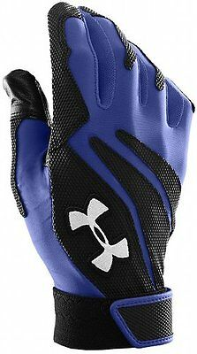 Under Armour Clean Up Iv Blue And Black Batting Gloves Baseball Hitting Gloves