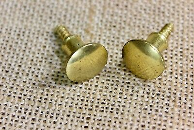 "2 door 5/8"" knobs cabinet Drawer pulls polished brass tarnish spots vintage"