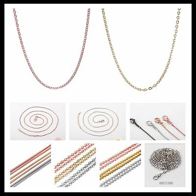 New Various Stunning Silver Gold Rose Gold 65MM Chains Necklace For Locket