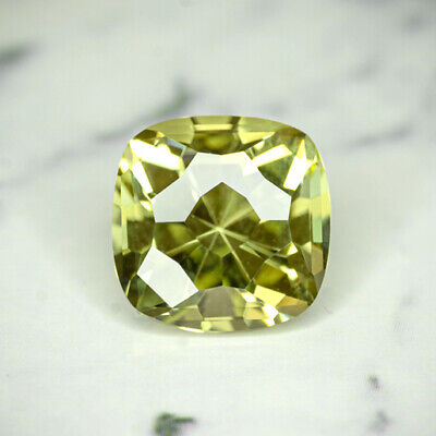 APATITE-MEXICO 4.38Ct CLARITY VVS1-LIVELY YELLOW GREEN COLOR-CALIBRATED