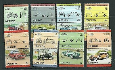 St.lucia Sg745/60 1984 Automobiles Mnh