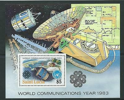 St.lucia Sgms645 1983 World Communications Year Mnh