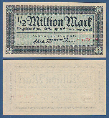 BRANDENBURG (Havel) 1/2 Million Mark 1923 KASSENFRISCH / UNC