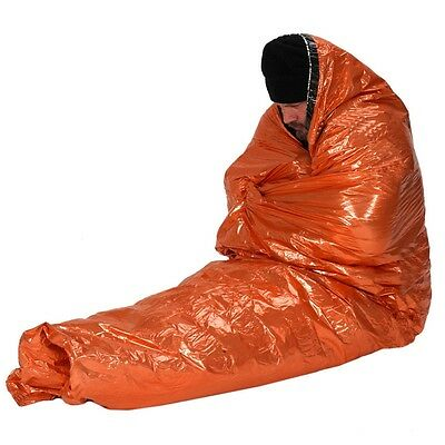 Ndur Emergency Survival Tool  Sleeping Bag  61435 Orange or Bright Silver