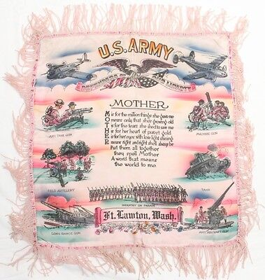 Home Front:  Pillow Cover - U.S. Army, Fort Lawton, Washington